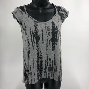 Bar III Gray Black T Shirt Size Small